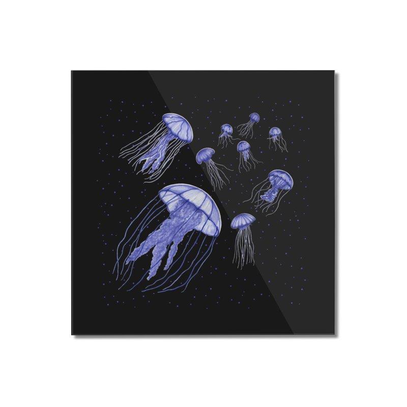 Jellyfish Home Mounted Acrylic Print by Beryl Design Shop
