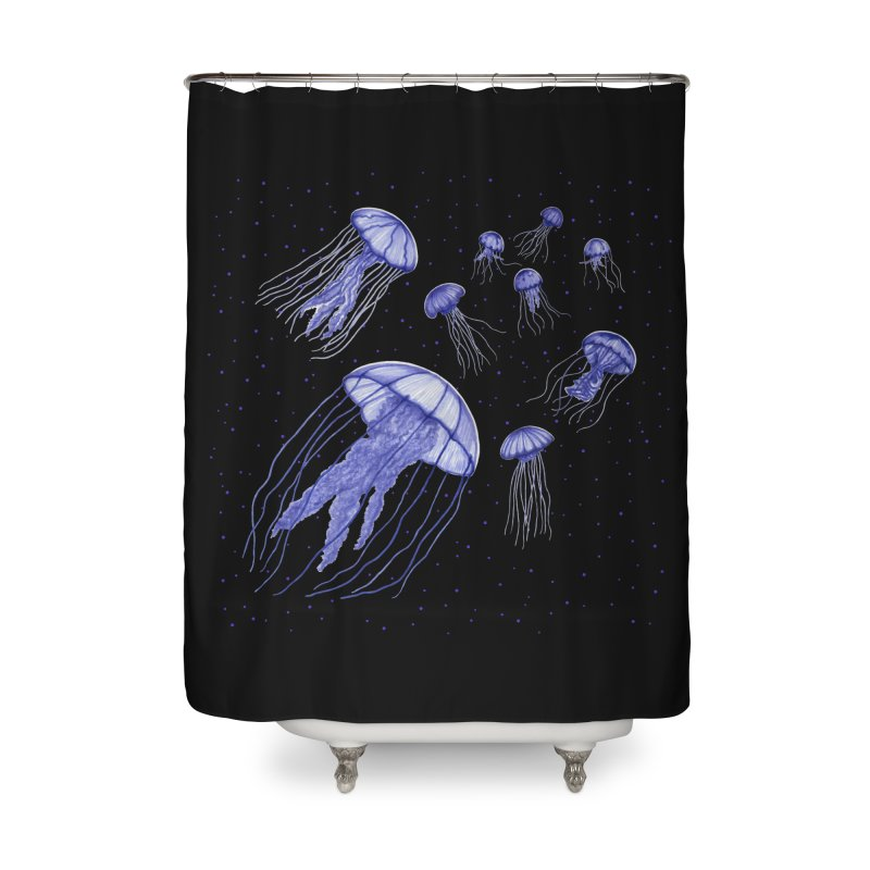 Jellyfish Home Shower Curtain by Beryl Design Shop