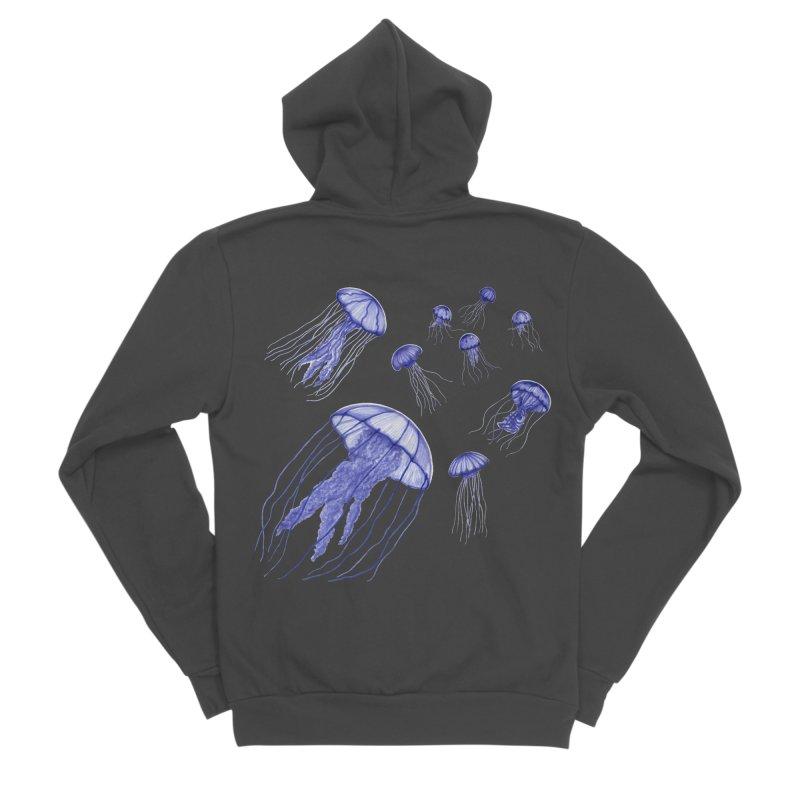 Jellyfish Men's Sponge Fleece Zip-Up Hoody by Beryl Design Shop