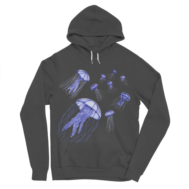 Jellyfish Women's Sponge Fleece Pullover Hoody by Beryl Design Shop