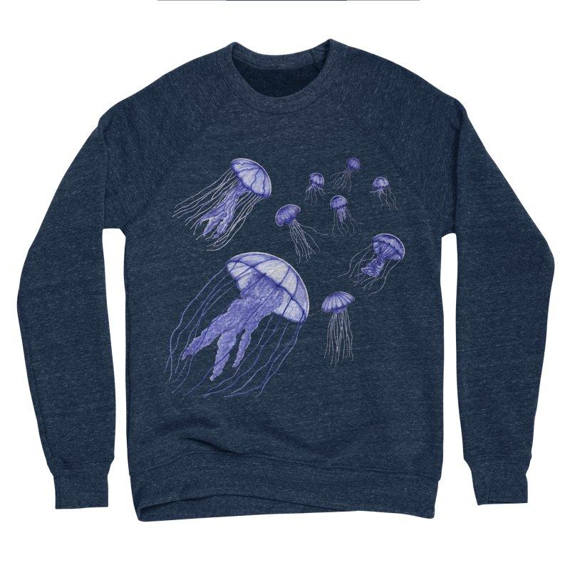 Jellyfish Men's Sponge Fleece Sweatshirt by Beryl Design Shop