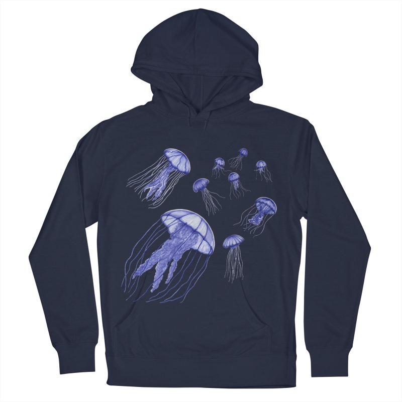 Jellyfish Women's French Terry Pullover Hoody by Beryl Design Shop