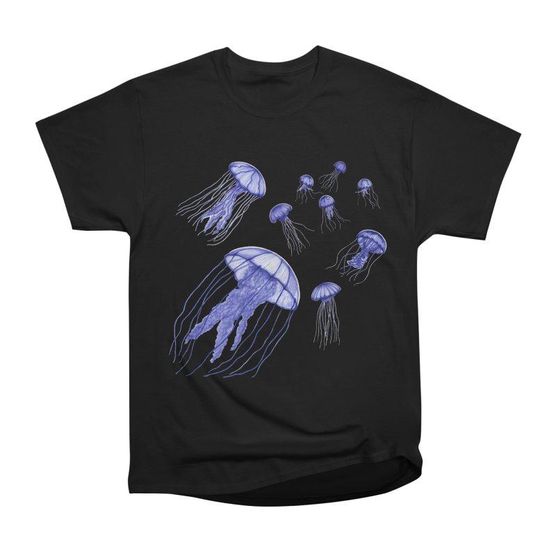 Jellyfish Men's Heavyweight T-Shirt by Beryl Design Shop