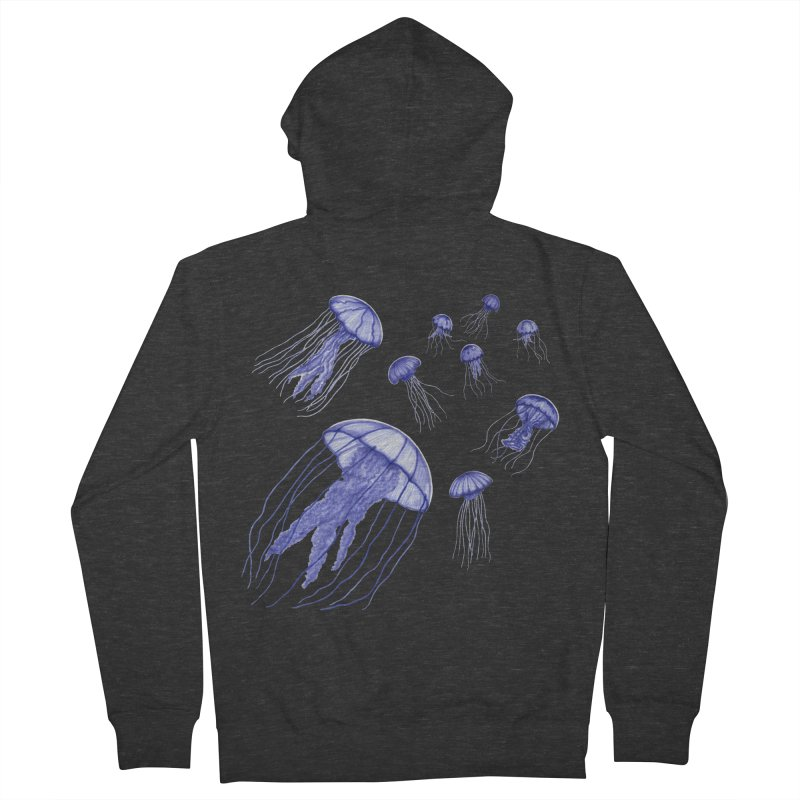 Jellyfish Women's French Terry Zip-Up Hoody by Beryl Design Shop