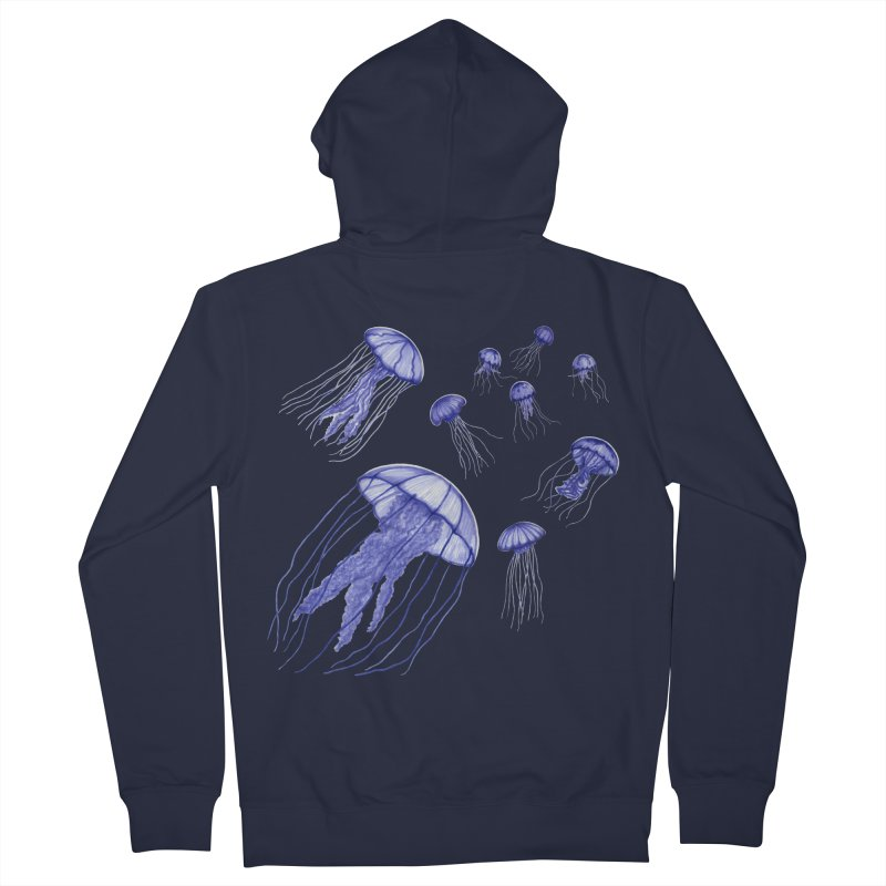 Jellyfish Men's French Terry Zip-Up Hoody by Beryl Design Shop