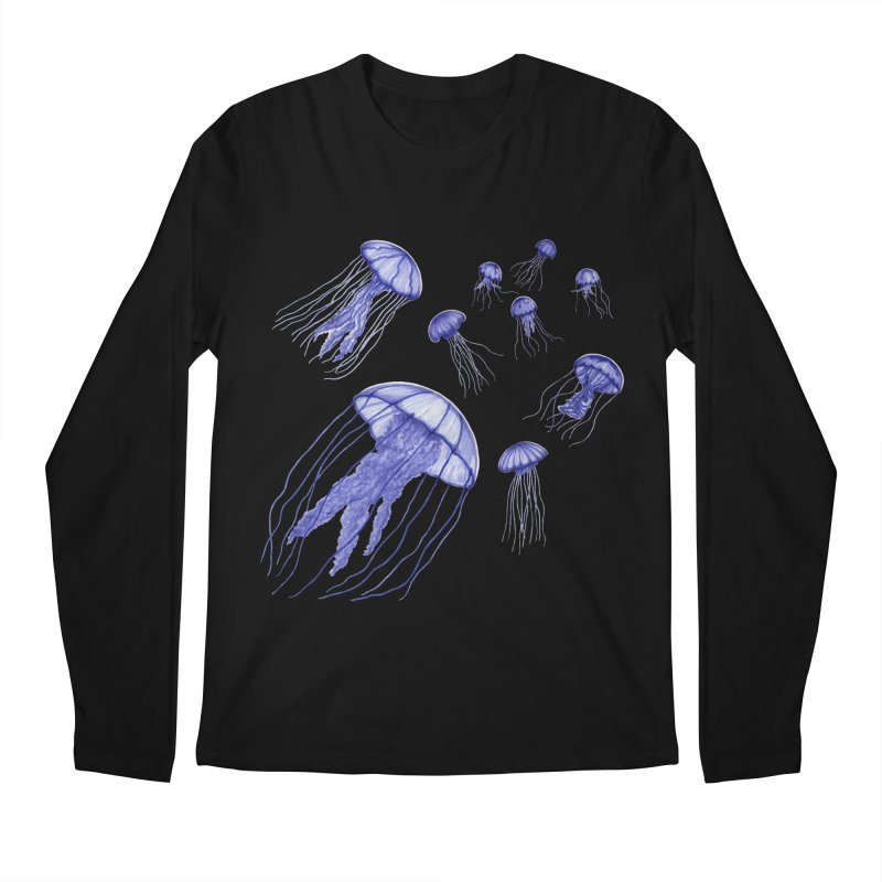 Jellyfish Men's Regular Longsleeve T-Shirt by Beryl Design Shop