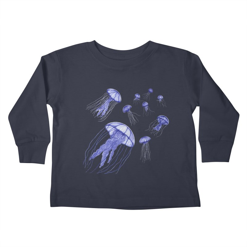 Jellyfish Kids Toddler Longsleeve T-Shirt by Beryl Design Shop