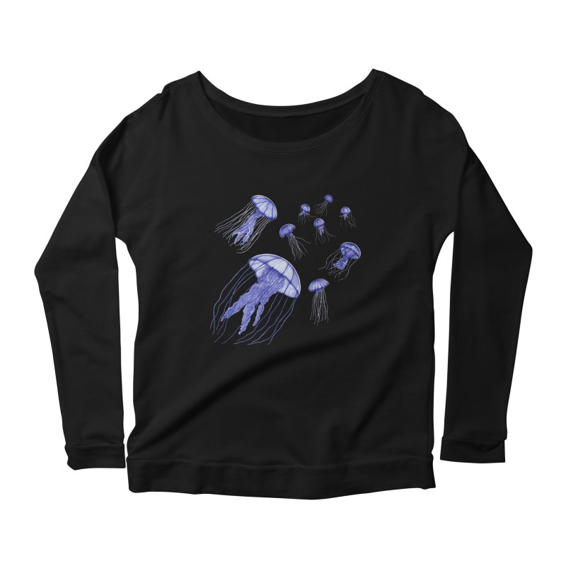Jellyfish Women's Scoop Neck Longsleeve T-Shirt by Beryl Design Shop