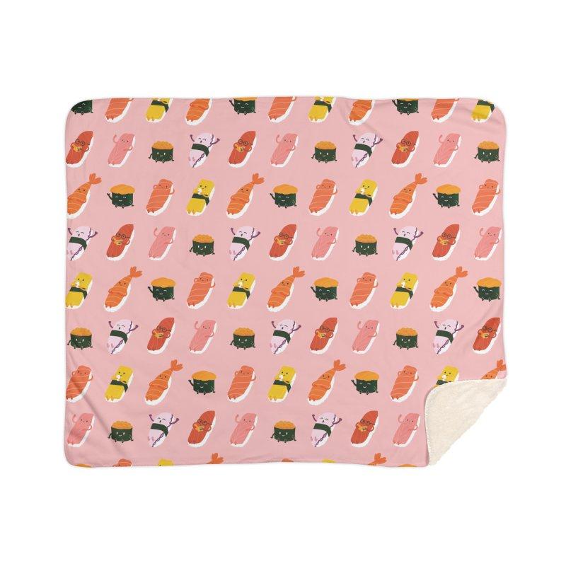 Cute Sushi Home Sherpa Blanket Blanket by Beryl Design Shop
