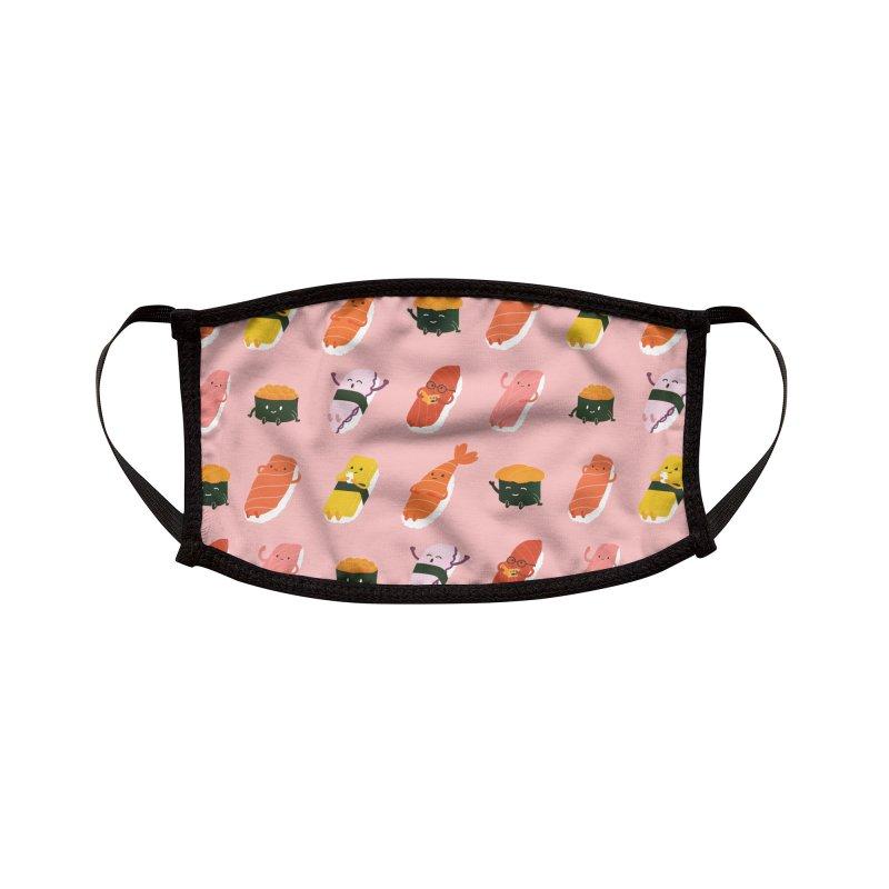 Cute Sushi Accessories Face Mask by Beryl Design Shop