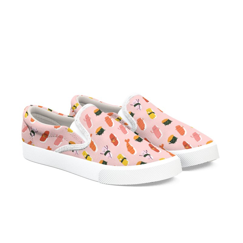 Cute Sushi in Women's Slip-On Shoes by Beryl Design Shop