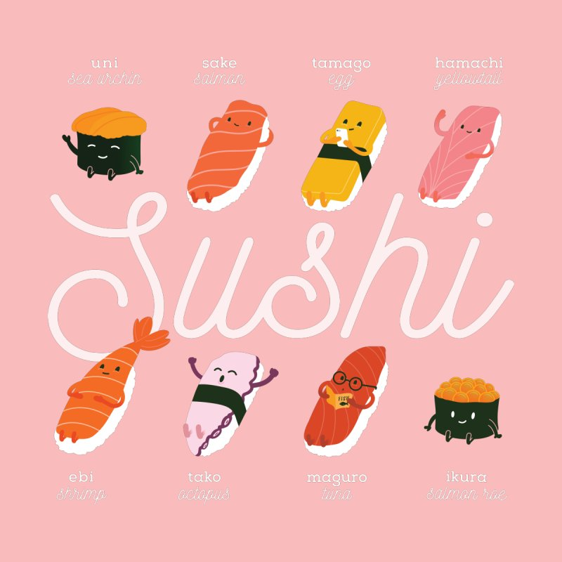 Cute Sushi by Beryl Design Shop