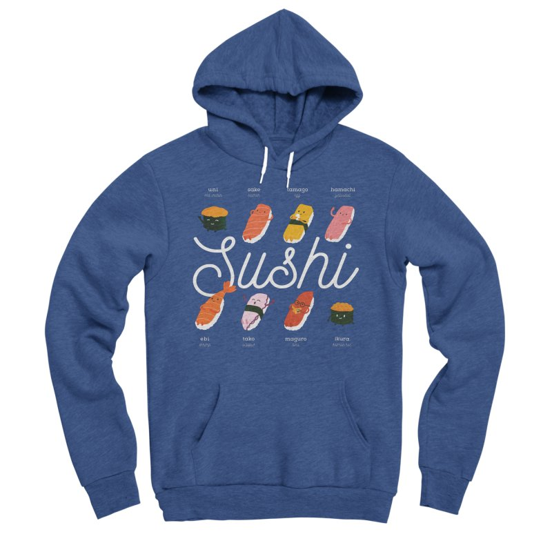 Cute Sushi Women's Sponge Fleece Pullover Hoody by Beryl Design Shop