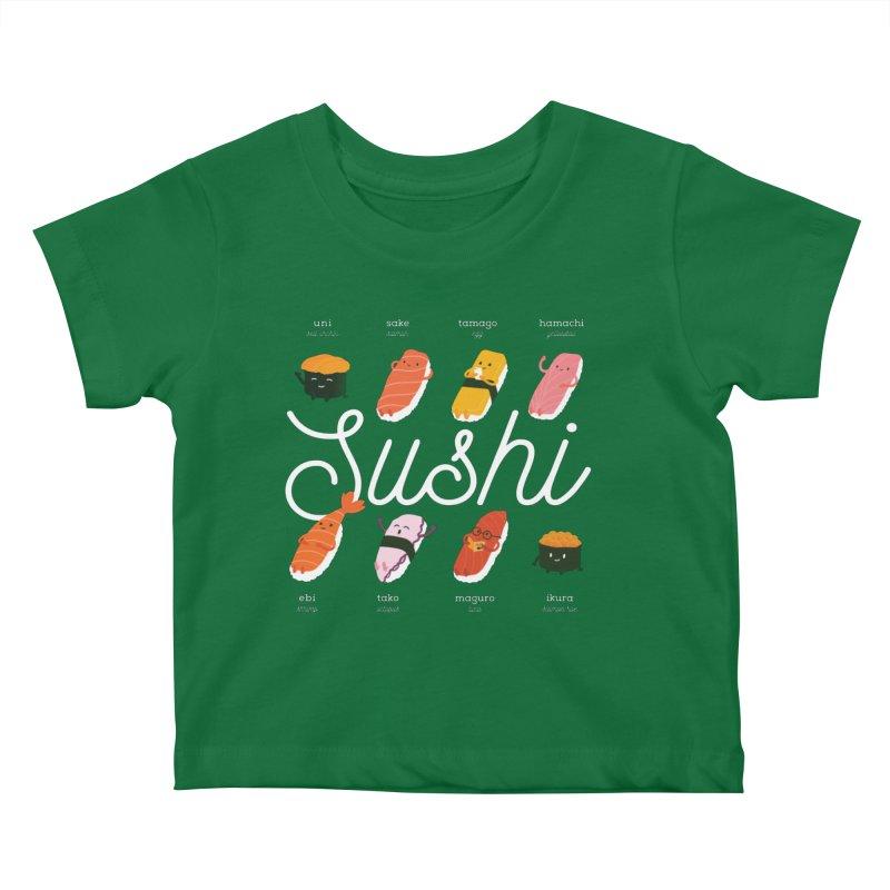 Cute Sushi Kids Baby T-Shirt by Beryl Design Shop