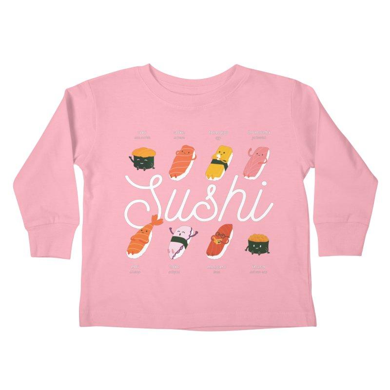 Cute Sushi Kids Toddler Longsleeve T-Shirt by Beryl Design Shop
