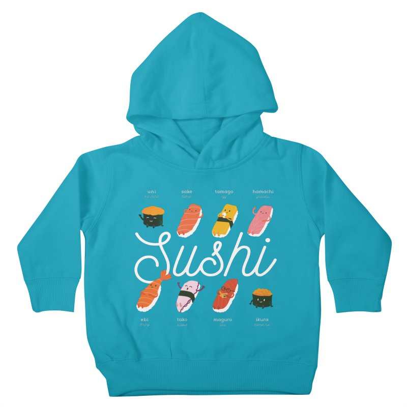 Cute Sushi Kids Toddler Pullover Hoody by Beryl Design Shop