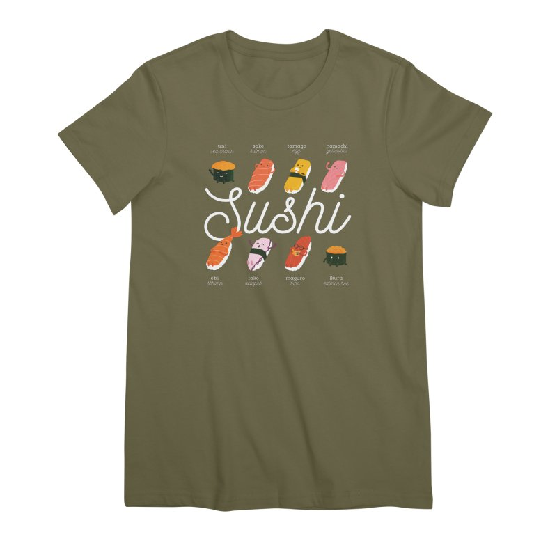 Cute Sushi Women's Premium T-Shirt by Beryl Design Shop