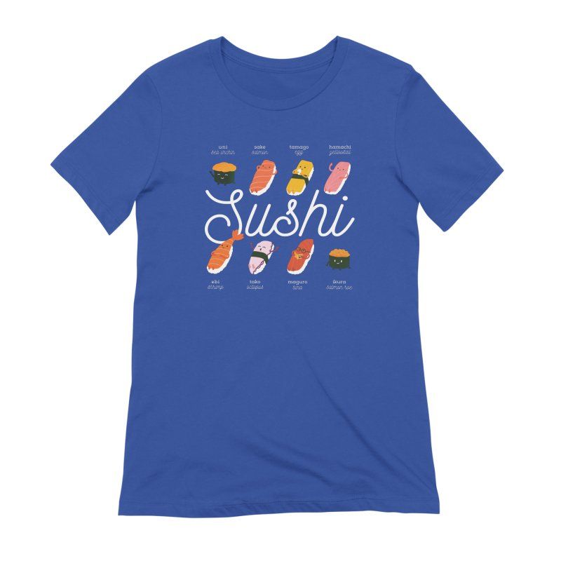 Cute Sushi Women's Extra Soft T-Shirt by Beryl Design Shop