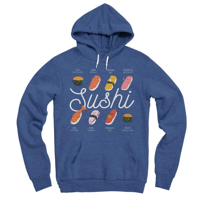 Cute Sushi Men's Sponge Fleece Pullover Hoody by Beryl Design Shop