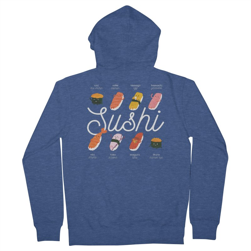 Cute Sushi Women's French Terry Zip-Up Hoody by Beryl Design Shop