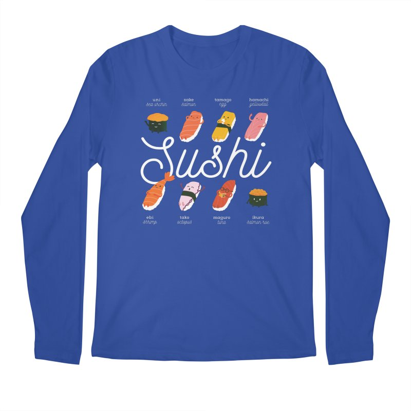 Cute Sushi Men's Regular Longsleeve T-Shirt by Beryl Design Shop