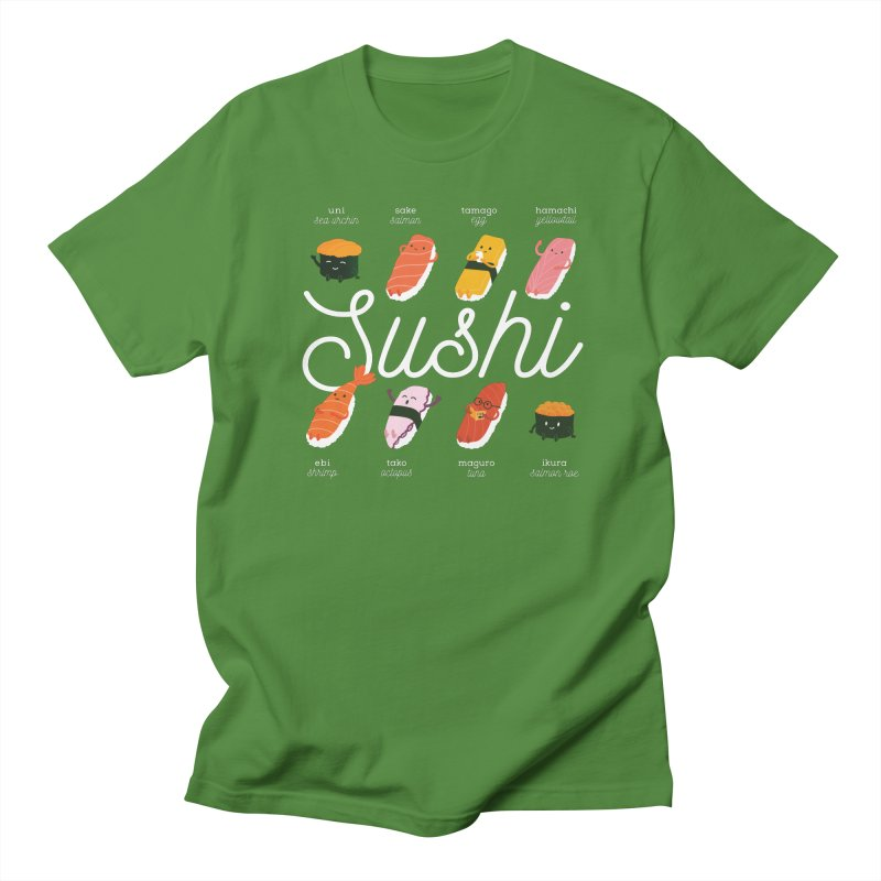 Cute Sushi Women's Regular Unisex T-Shirt by Beryl Design Shop