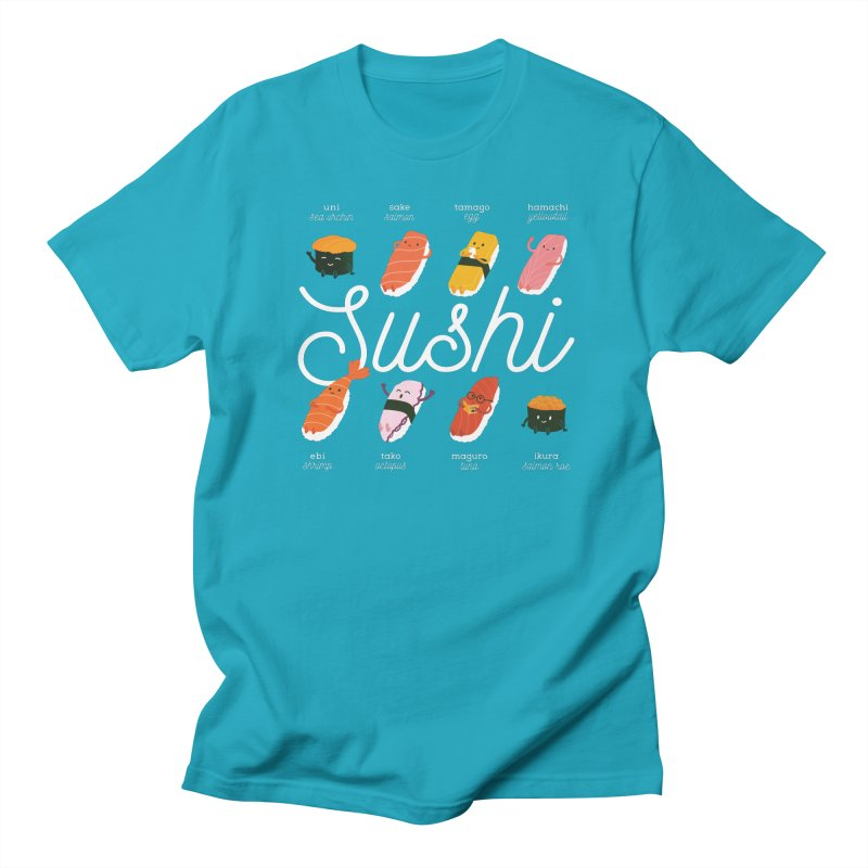 Cute Sushi Men's Regular T-Shirt by Beryl Design Shop