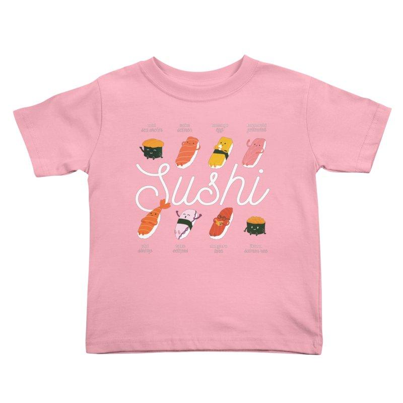 Cute Sushi Kids Toddler T-Shirt by Beryl Design Shop
