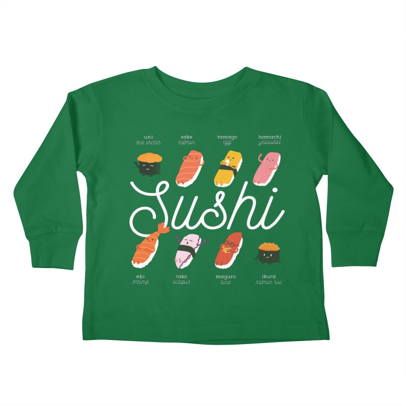 Cute Sushi Kids Toddler Longsleeve T-Shirt by Beryl Design Shop