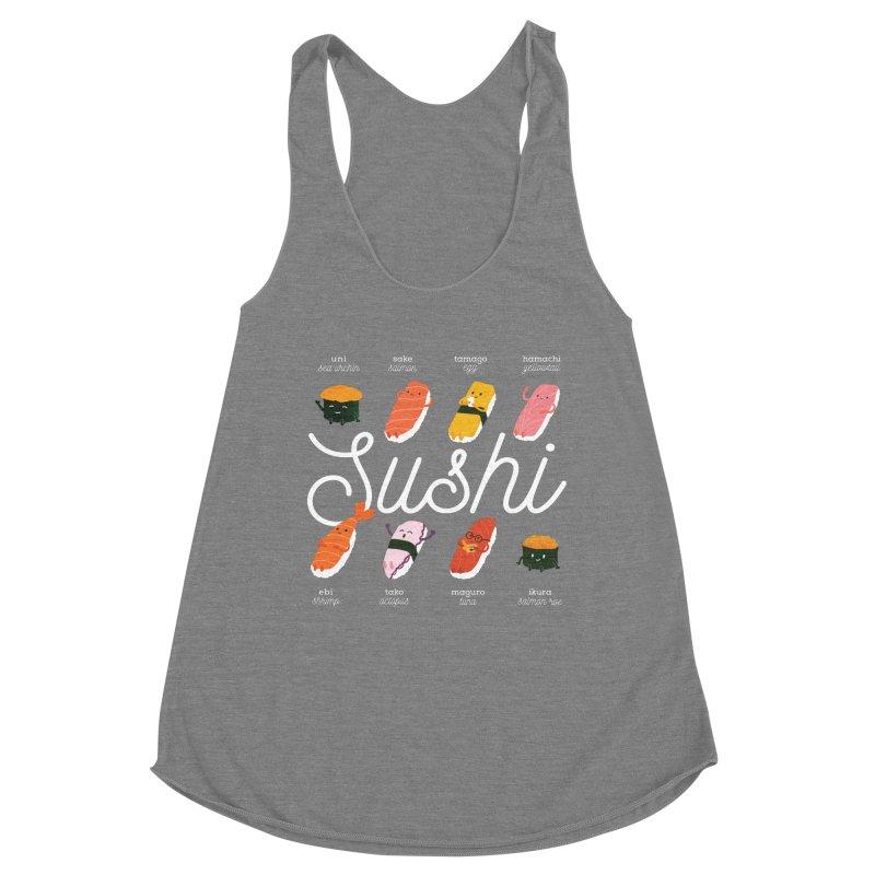 Cute Sushi Women's Tank by Beryl Design Shop