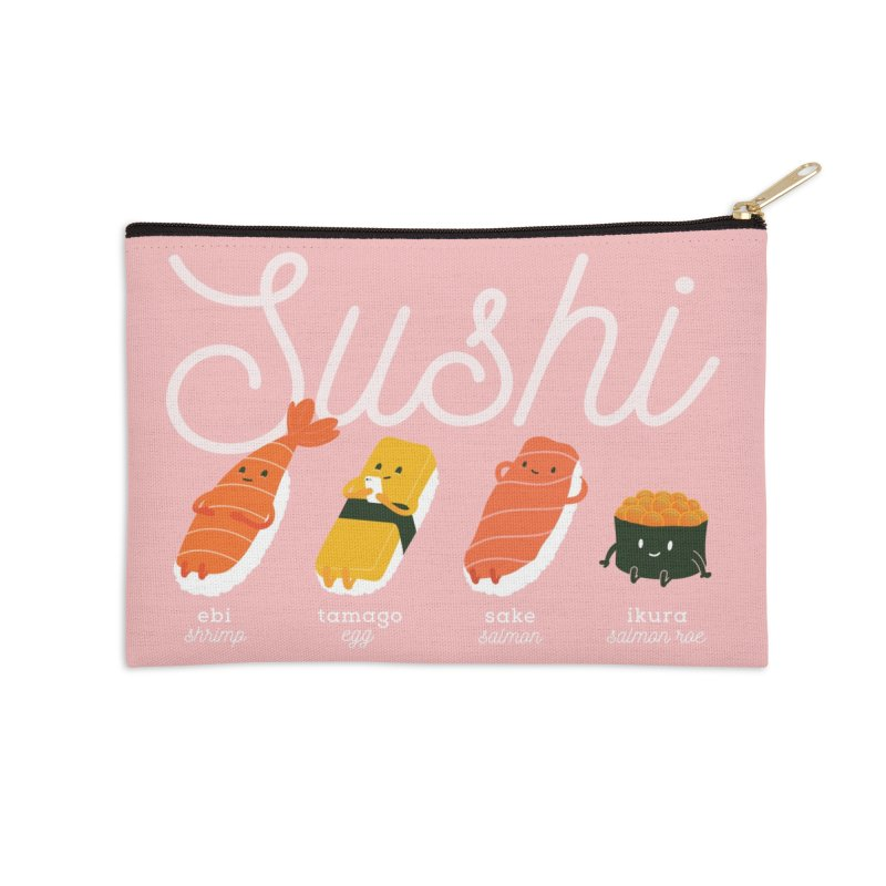 Cute Sushi Accessories Zip Pouch by Beryl Design Shop
