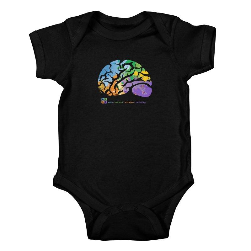 BEST BRAIN TEE Kids Baby Bodysuit by bestconnections's Artist Shop