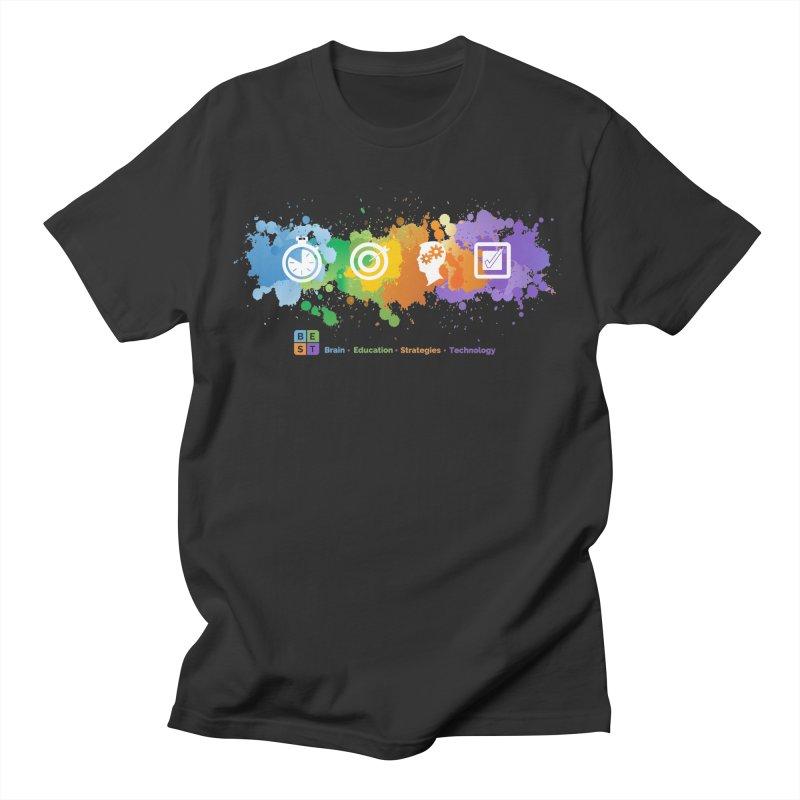 BEST SPLATTER MEN TEE Men's T-Shirt by bestconnections's Artist Shop