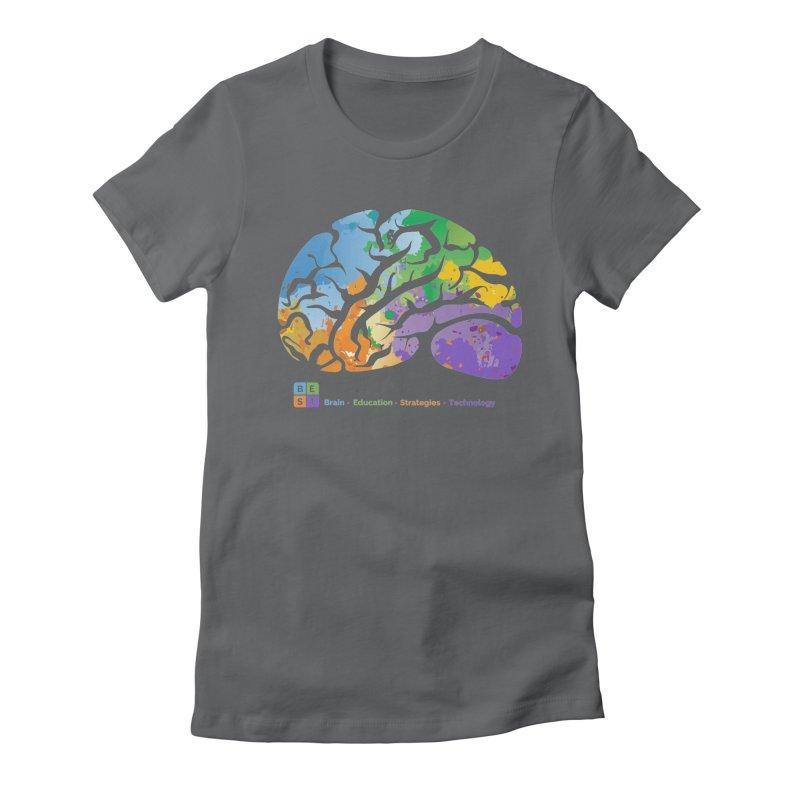 BEST COLORFUL BRAIN Women's T-Shirt by bestconnections's Artist Shop