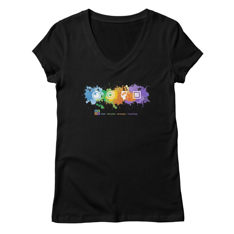 BEST APP SPLATTER Women's V-Neck by bestconnections's Artist Shop