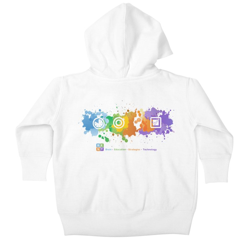 BEST APP SPLATTER Kids Baby Zip-Up Hoody by bestconnections's Artist Shop