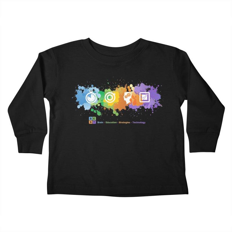 BEST APP SPLATTER Kids Toddler Longsleeve T-Shirt by bestconnections's Artist Shop