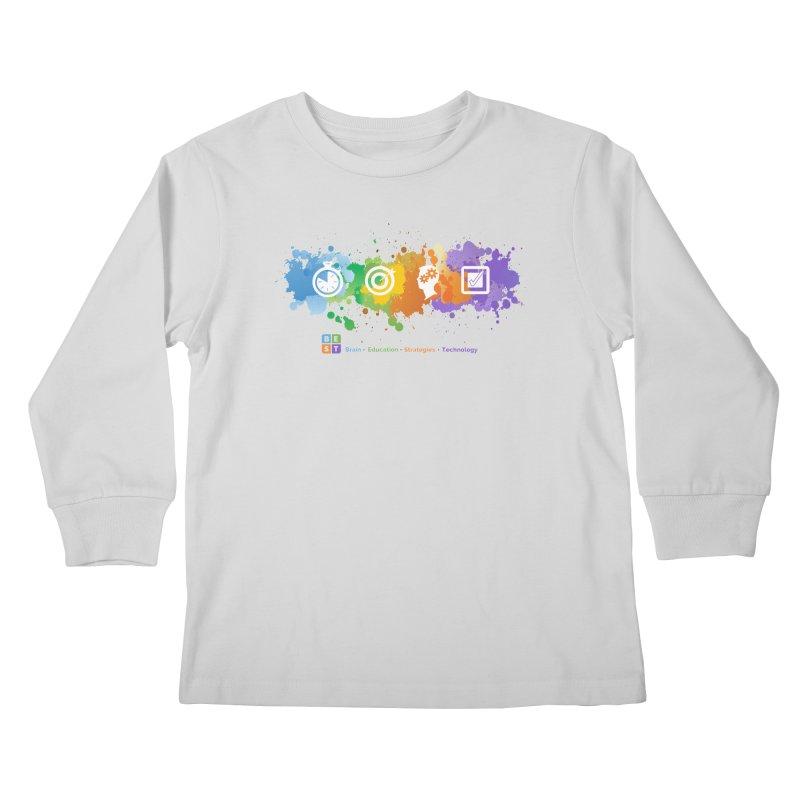 BEST APP SPLATTER Kids Longsleeve T-Shirt by bestconnections's Artist Shop