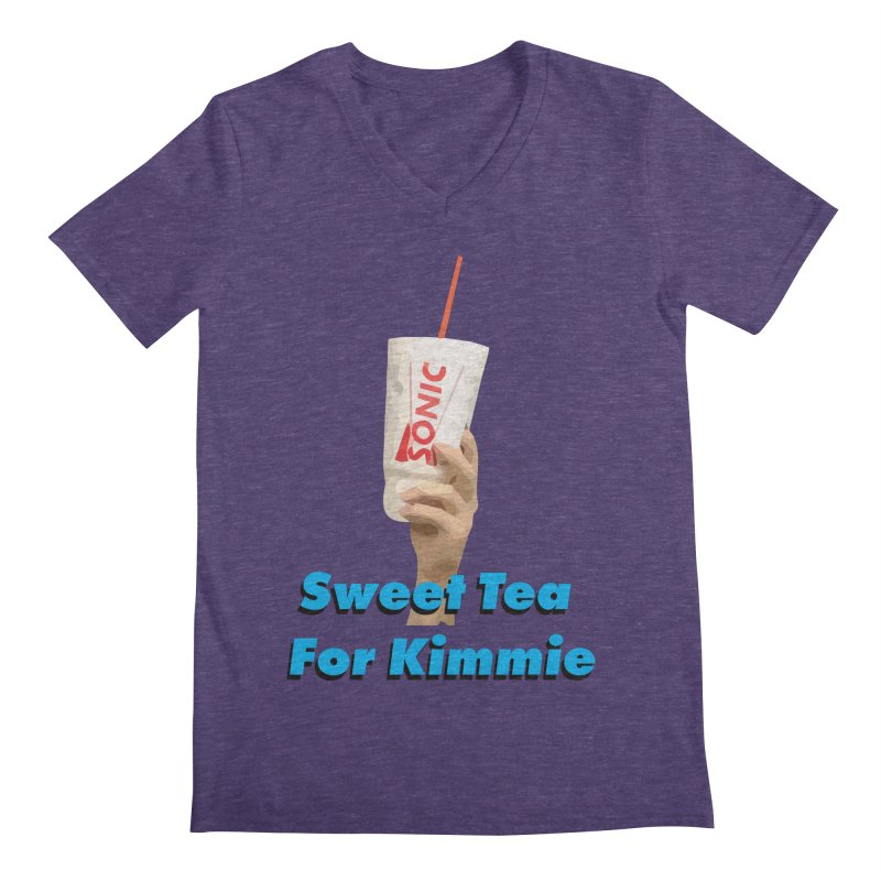 Sweet Tea For Kimmie Men's Regular V-Neck by Best Part Productions - Shirts and Stuff