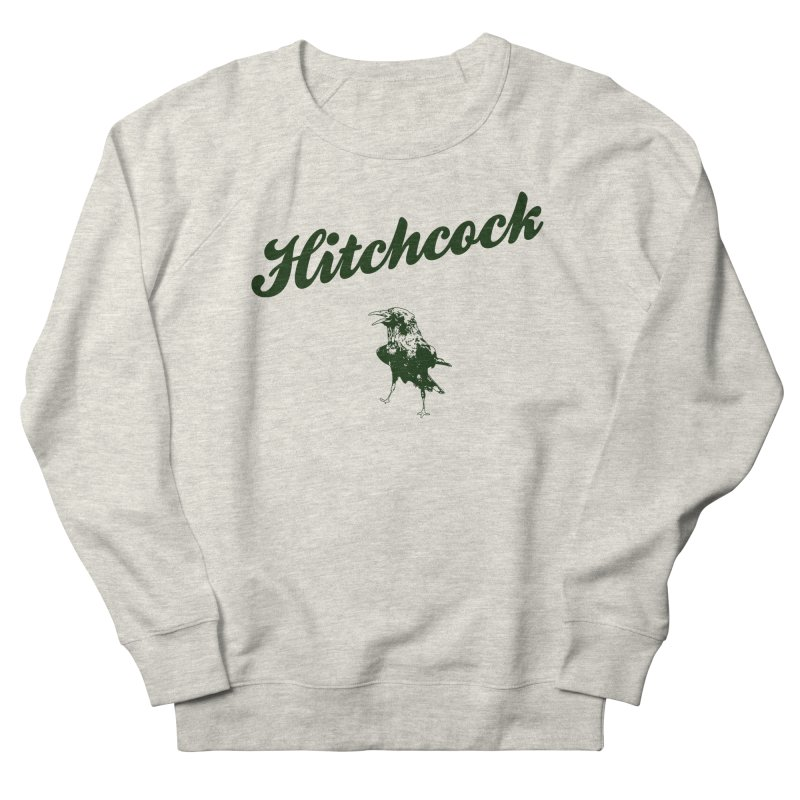 Hitchcock Is My College in Men's French Terry Sweatshirt Heather Oatmeal by Best Part Productions - Shirts and Stuff