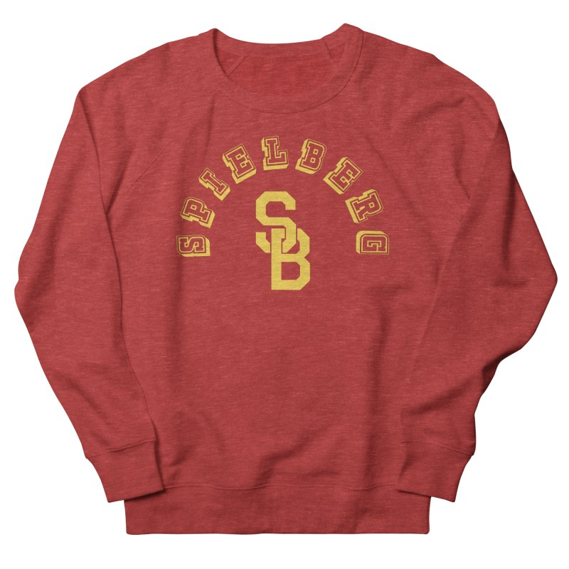 Spielberg Is My College in Men's French Terry Sweatshirt Heather Red by Best Part Productions - Shirts and Stuff