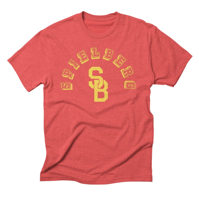 Spielberg Is My College in Men's Triblend T-Shirt Chili Red by Best Part Productions - Shirts and Stuff