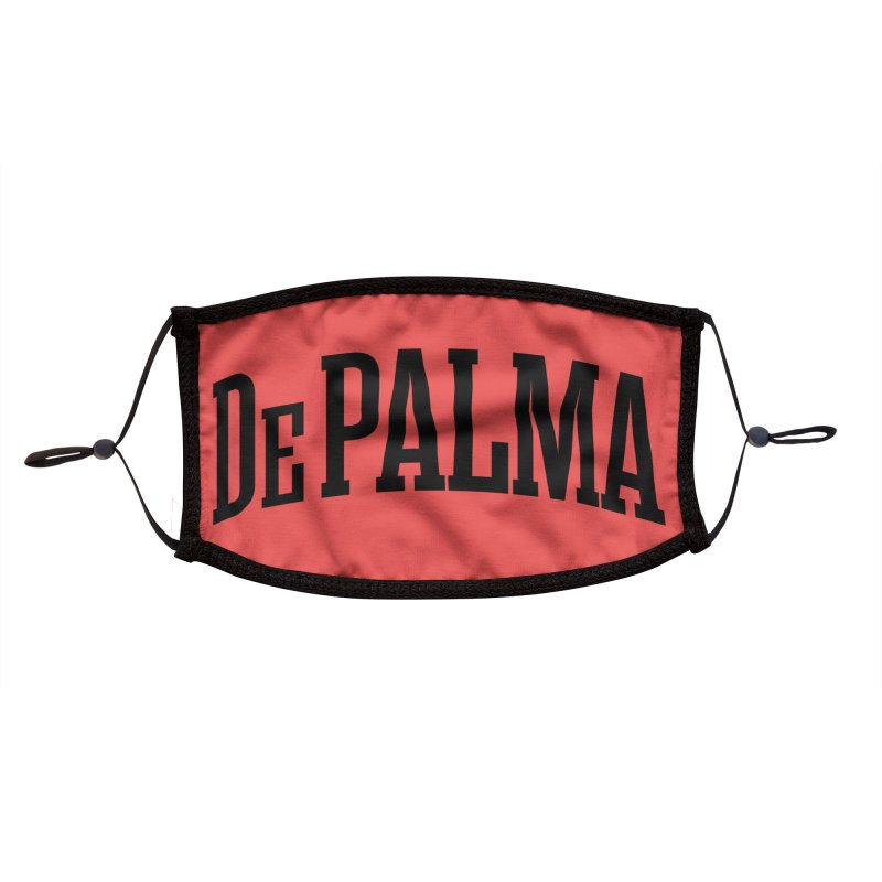 De Palma Is My College - BLACK LOGO Accessories Face Mask by Best Part Productions - Shirts and Stuff
