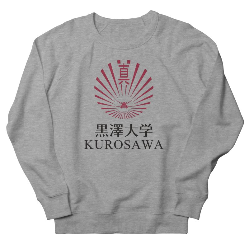 Kurosawa Is My College in Men's French Terry Sweatshirt Heather Graphite by Best Part Productions - Shirts and Stuff