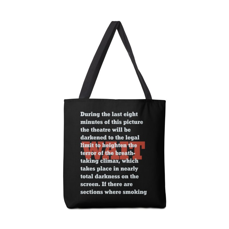 Wait Until Dark Warning Accessories Bag by Best Part Productions - Shirts and Stuff