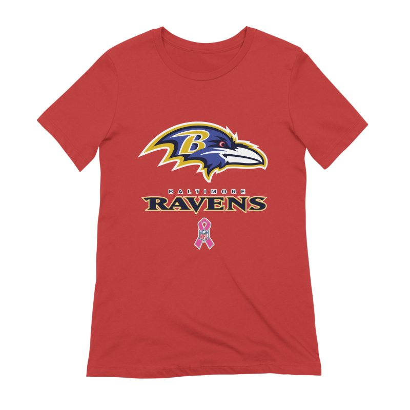 Ravens Pink BC Women's Extra Soft T-Shirt by Betches Guide to Cancer Shop