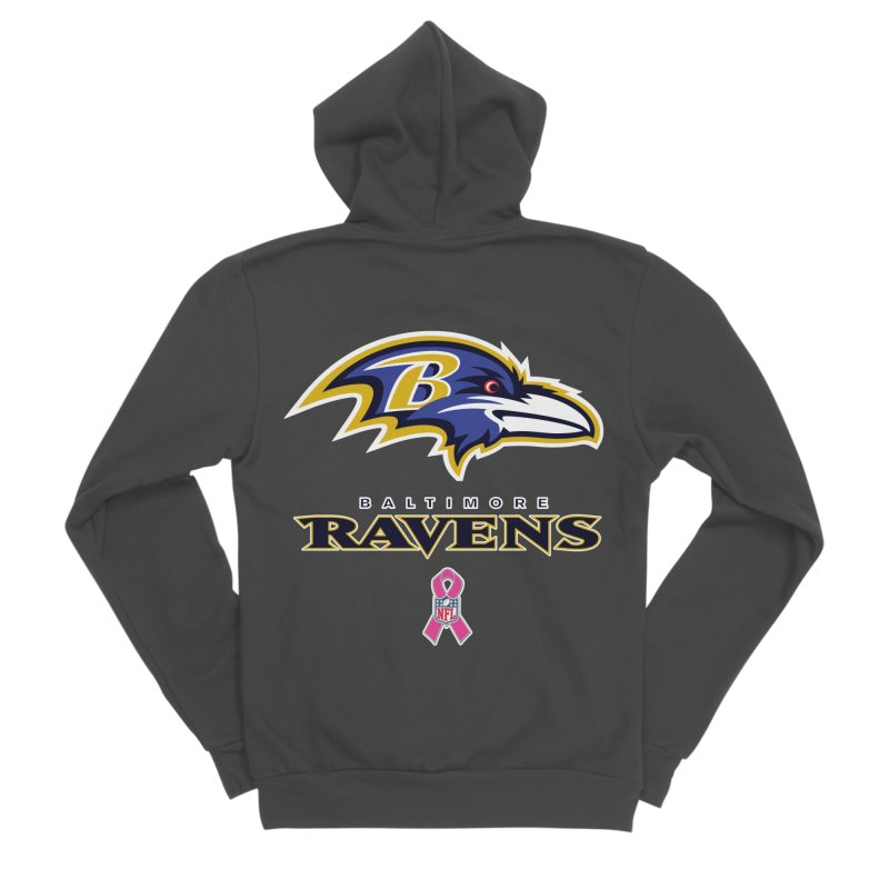 Ravens Pink BC Women's Sponge Fleece Zip-Up Hoody by Betches Guide to Cancer Shop