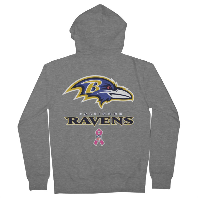 Ravens Pink BC Women's French Terry Zip-Up Hoody by Betches Guide to Cancer Shop