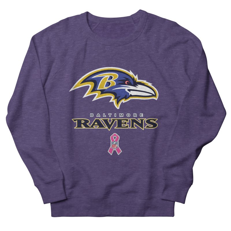 Ravens Pink BC Women's French Terry Sweatshirt by Betches Guide to Cancer Shop