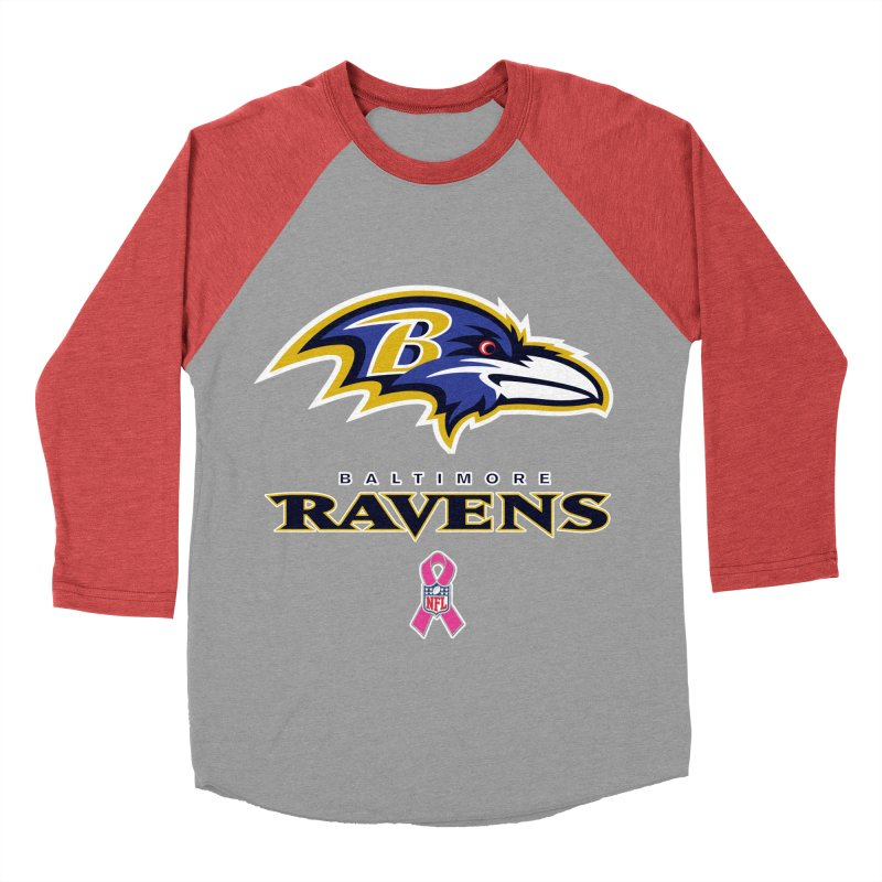 Ravens Pink BC Women's Baseball Triblend Longsleeve T-Shirt by Betches Guide to Cancer Shop
